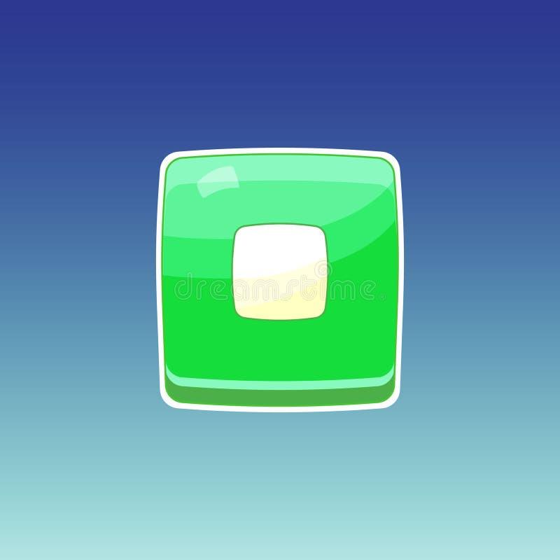 Modig grön knapp vektor illustrationer