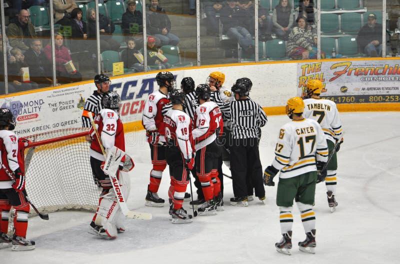 modig hockeyncaa för slagsmål arkivfoton