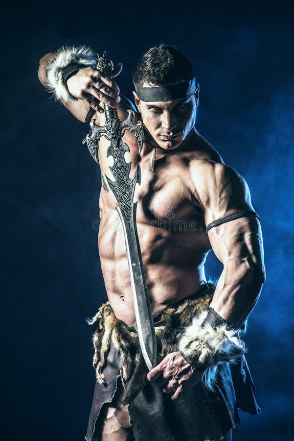 Modig krigare royaltyfri bild