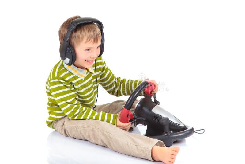 modig leka video för pojke arkivfoto