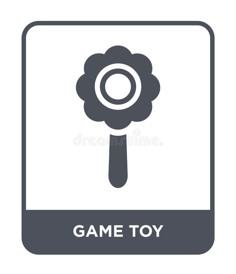 modig leksaksymbol i moderiktig designstil modig leksaksymbol som isoleras på vit bakgrund enkel och modern lägenhet för modig le stock illustrationer
