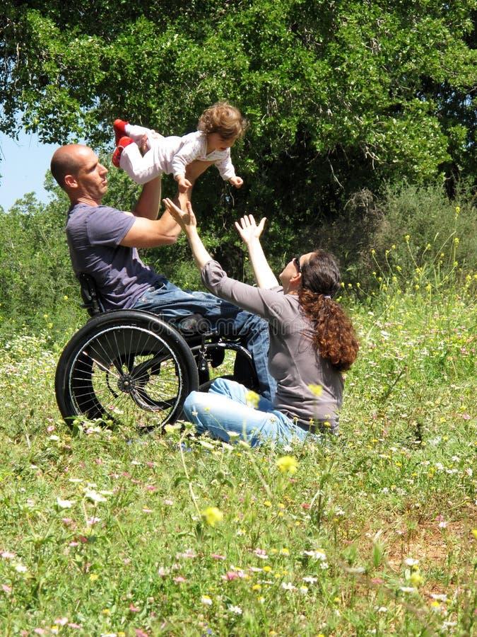 modig picknickrullstol royaltyfri fotografi