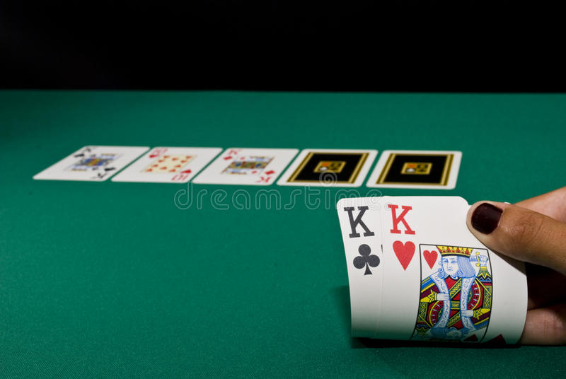 modig poker arkivfoto