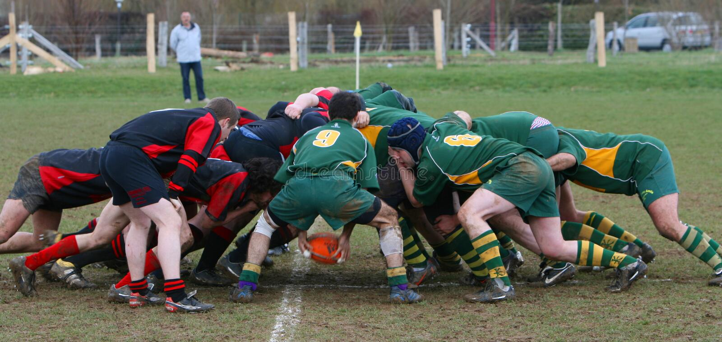 modig rugby för amatör royaltyfri fotografi