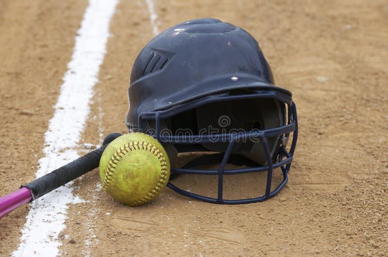 modig softball arkivfoton