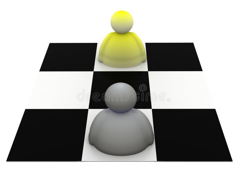 modig strategi vektor illustrationer