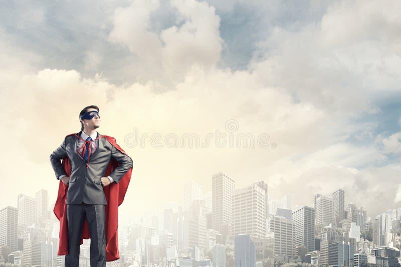 Modig toppen hjälte arkivfoton