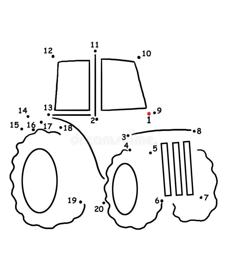 modig traktor 93 vektor illustrationer
