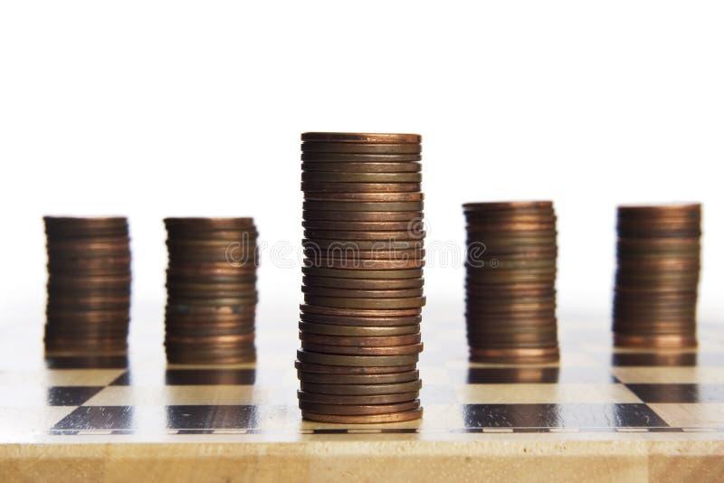 modiga görande pengar arkivbild