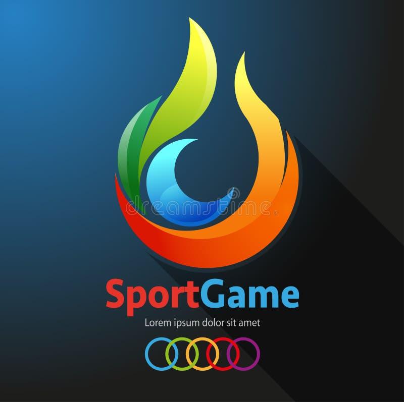 Modigt symbol för sport royaltyfri illustrationer