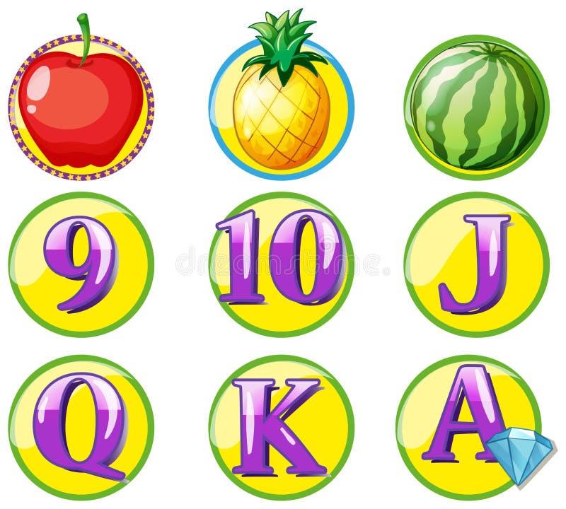 Download Modigt Tecken Med Frukter Och Nummer Vektor Illustrationer - Illustration av isolerat, clipping: 78732202