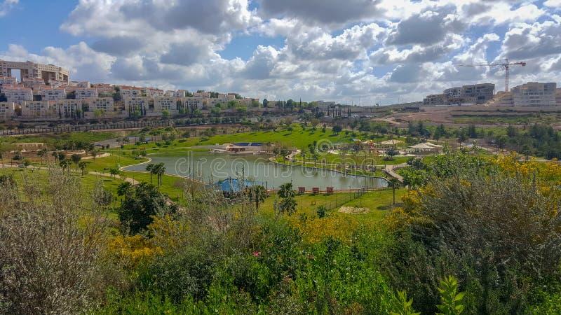 Modiin, ville en Israël, ville d'avenir, parc d'Anaba photographie stock
