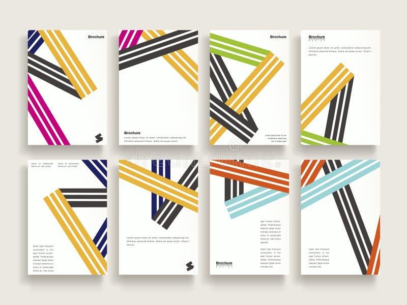 Modische Broschürenschablone lizenzfreie abbildung