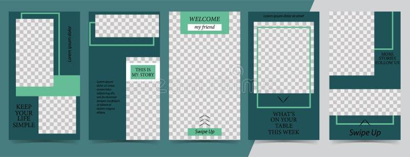 Modische editable Schablone für Geschichten der sozialen Netzwerke, instagram Geschichten, Vektorillustration Designhintergründe  vektor abbildung