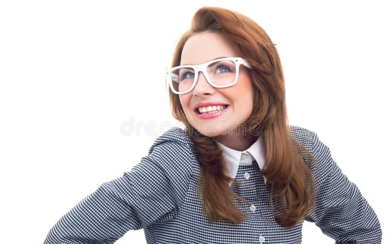 Modische Frau der Nahaufnahme stockfoto