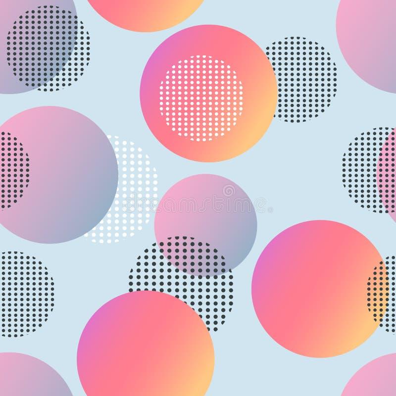 Modische geometrische Elementmemphis-Karten Retrostilbeschaffenheit, Muster und geometrische Elemente Moderne abstrakte Auslegung stock abbildung