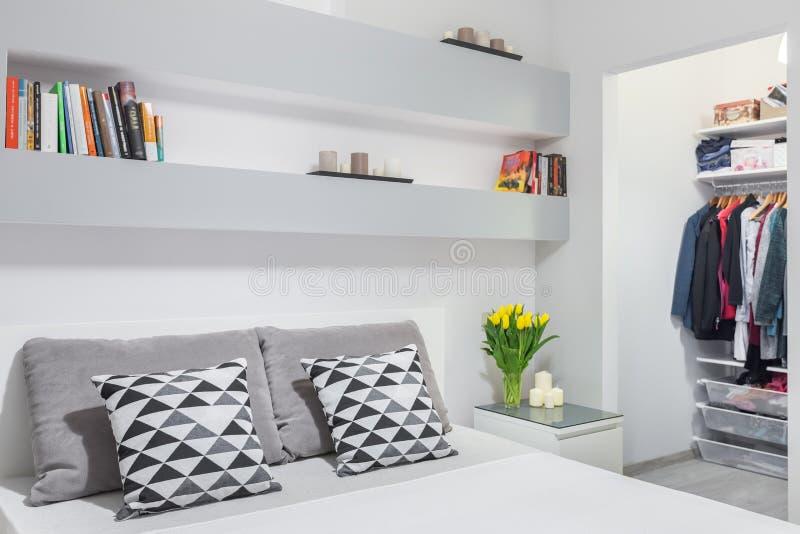 Modische Mischung von Grauem und von weißem lizenzfreie stockbilder