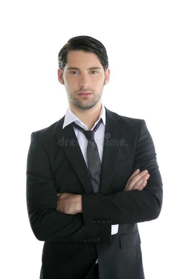 Modischer eleganter junger schwarzer Klagemann der Art und Weise lizenzfreies stockfoto