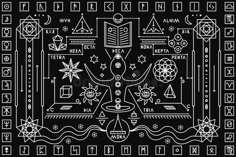 Modischer mystischer Hintergrund vektor abbildung