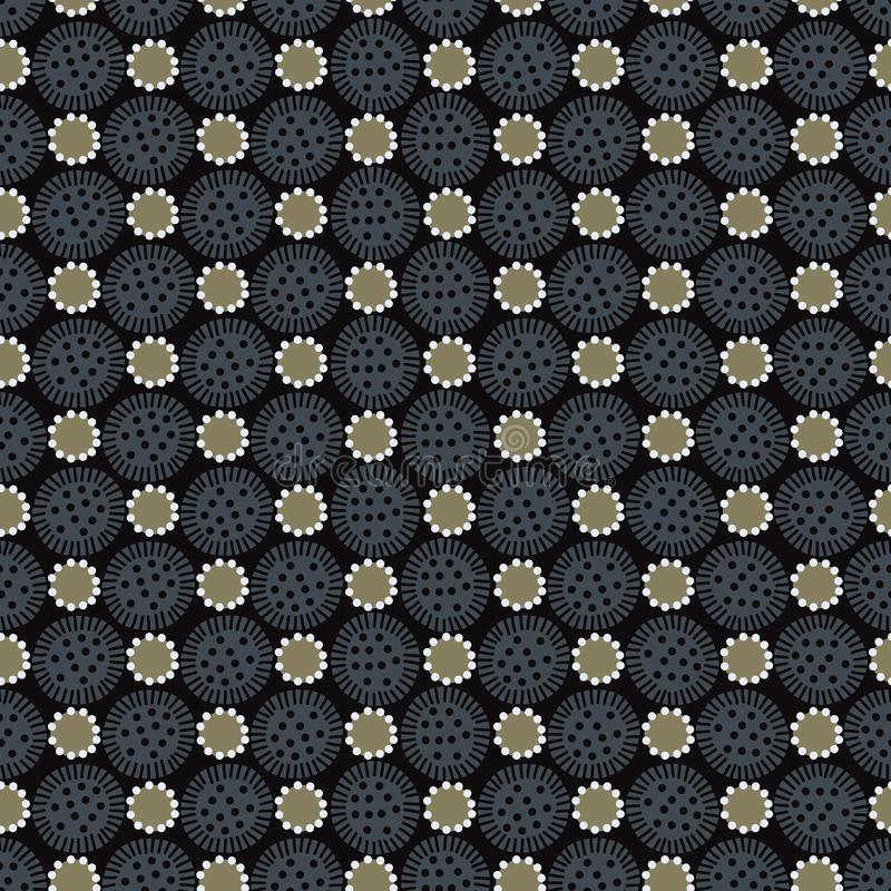 Modisches Blumen-Polkadot nahtloses Vektor-Muster Boho vektor abbildung
