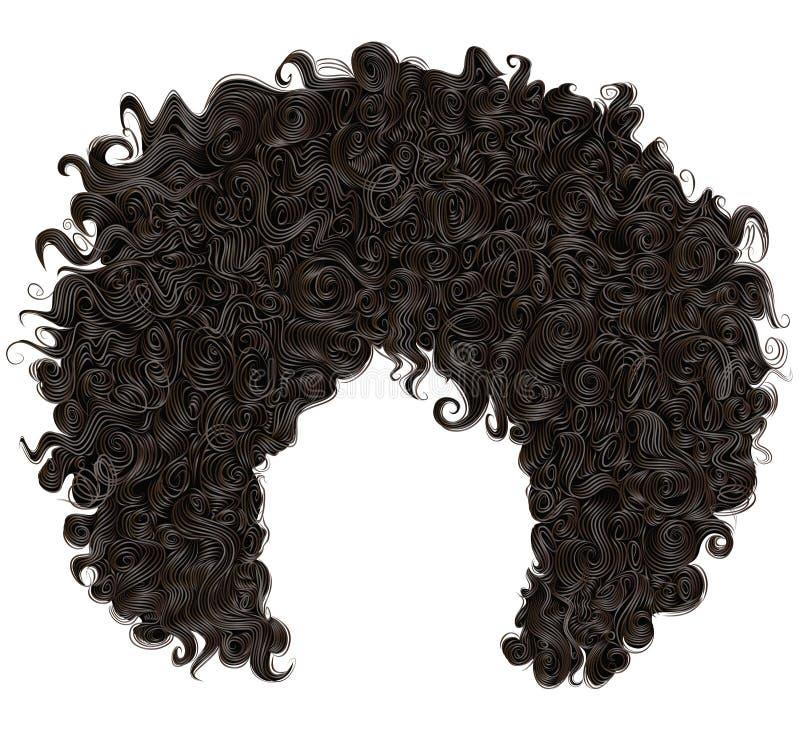 Modisches gelocktes afrikanisches schwarzes Haar Modeschönheitsart lizenzfreie stockbilder