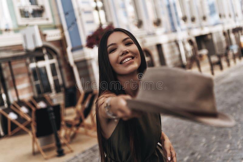 Modisches Mädchen stockfotos