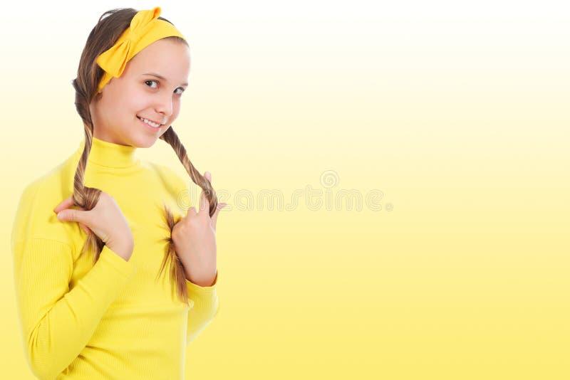 Modisches Mädchen lizenzfreie stockbilder