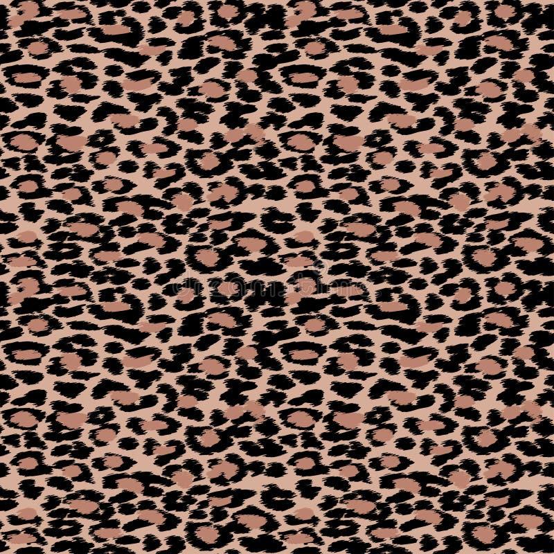 Modisches nahtloses Muster der Leopard- oder Gepardhaut, Tierpelzrückseite lizenzfreie abbildung
