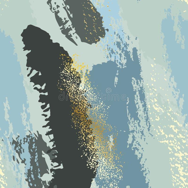 Modisches Schmutzminzengrün und blauer schicker Hintergrund gemacht im Vektor für Tapete, Segeltuch, Hochzeit, Visitenkarten, Wer stock abbildung