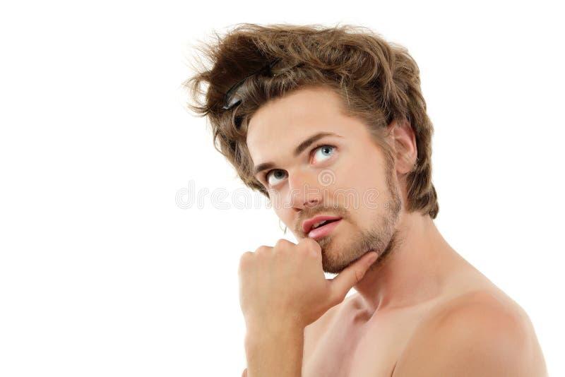 Modisches stattliches des Mannes getrennt auf Weiß stockfotos