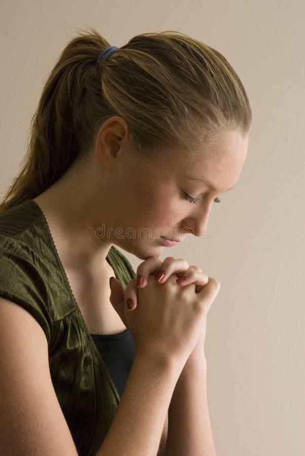modlenia kobiety potomstwa zdjęcia stock