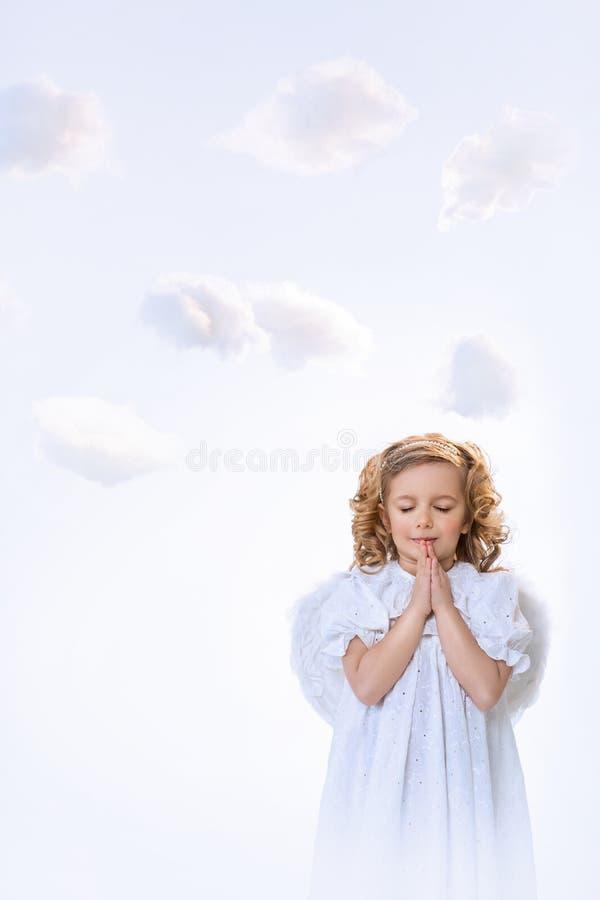 Modlenie anioł fotografia stock
