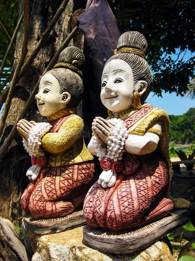 Modlenie kobiet statua fotografia stock