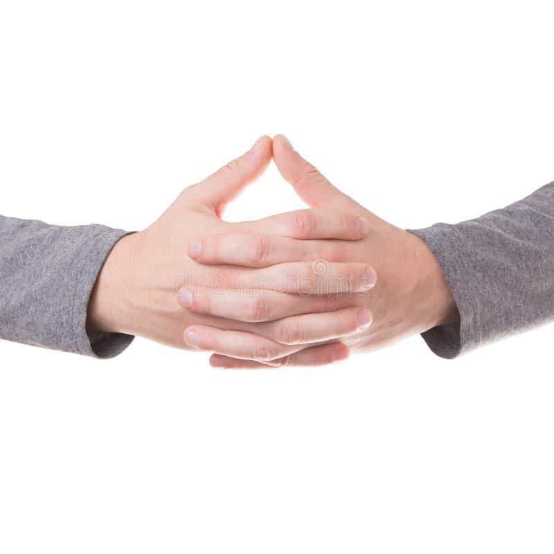 Modlenie ręk gest odizolowywający obraz royalty free