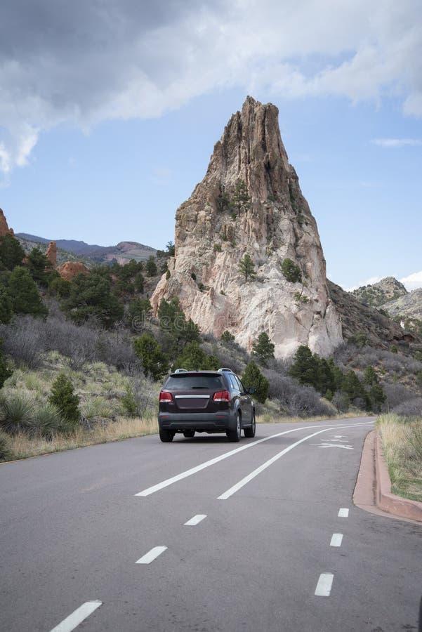 Modlenie Wręcza rockową formację w ogródzie bogowie w Colorado Springs obraz royalty free