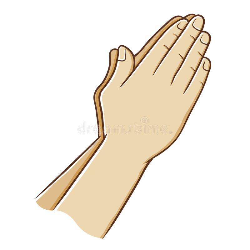 Modlić się ręka wektoru ilustrację ilustracja wektor