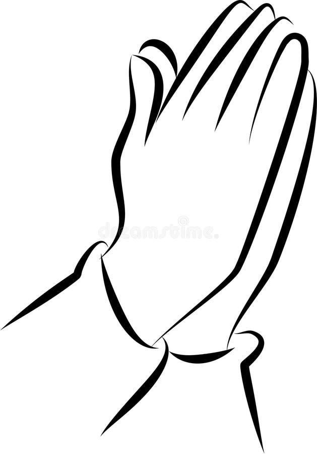 Modlić się ręki klamerki sztukę ilustracji