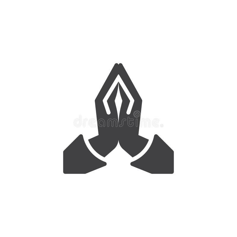 Modli? si? r?ka wektoru ikon? royalty ilustracja