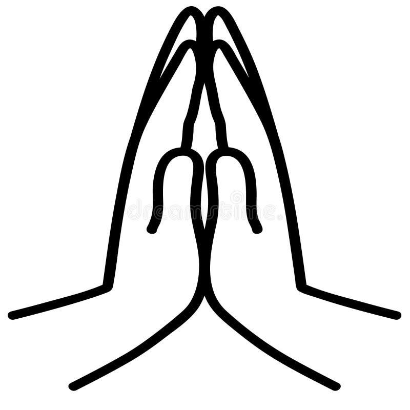 Modli? si? r?ki wektorow? ilustracj? crafteroks royalty ilustracja