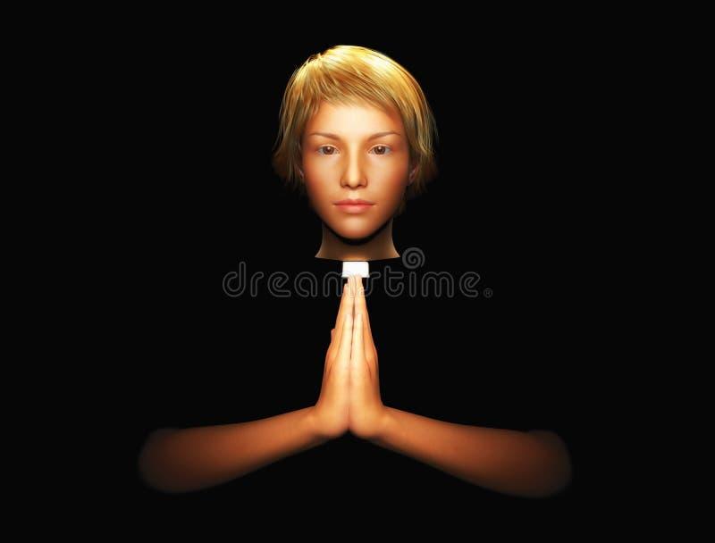 Modlitewna kobieta ilustracja wektor
