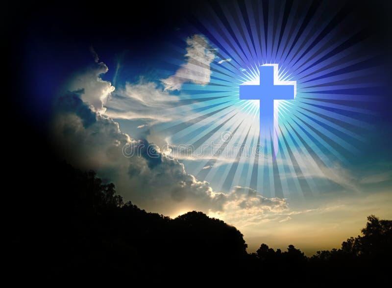 Modlitewna modlenie krzyża religia fotografia stock