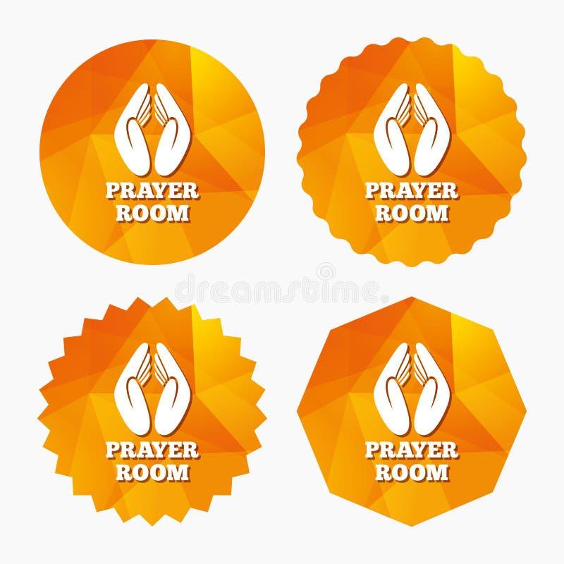 Modlitewna pokoju znaka ikona Religia księdza symbol royalty ilustracja