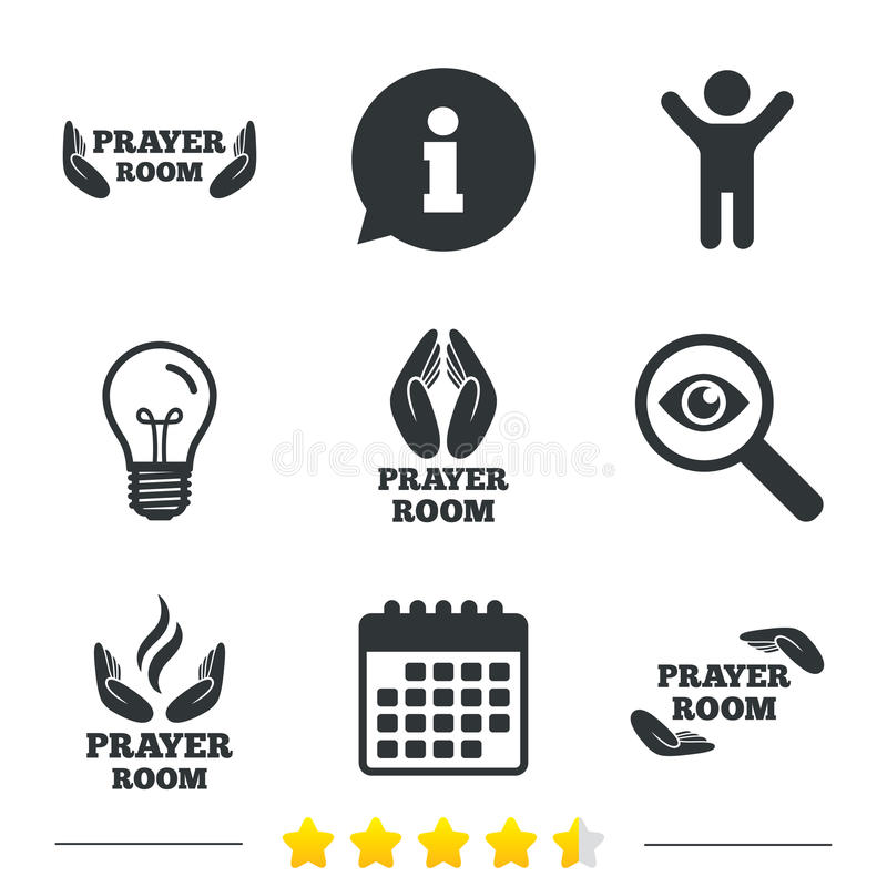 Modlitewne izbowe ikony Religia księdza symbole ilustracja wektor
