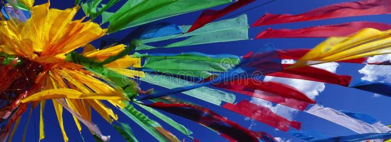 Modlitewne tybetańczyk flaga (Jingfan) zdjęcia stock