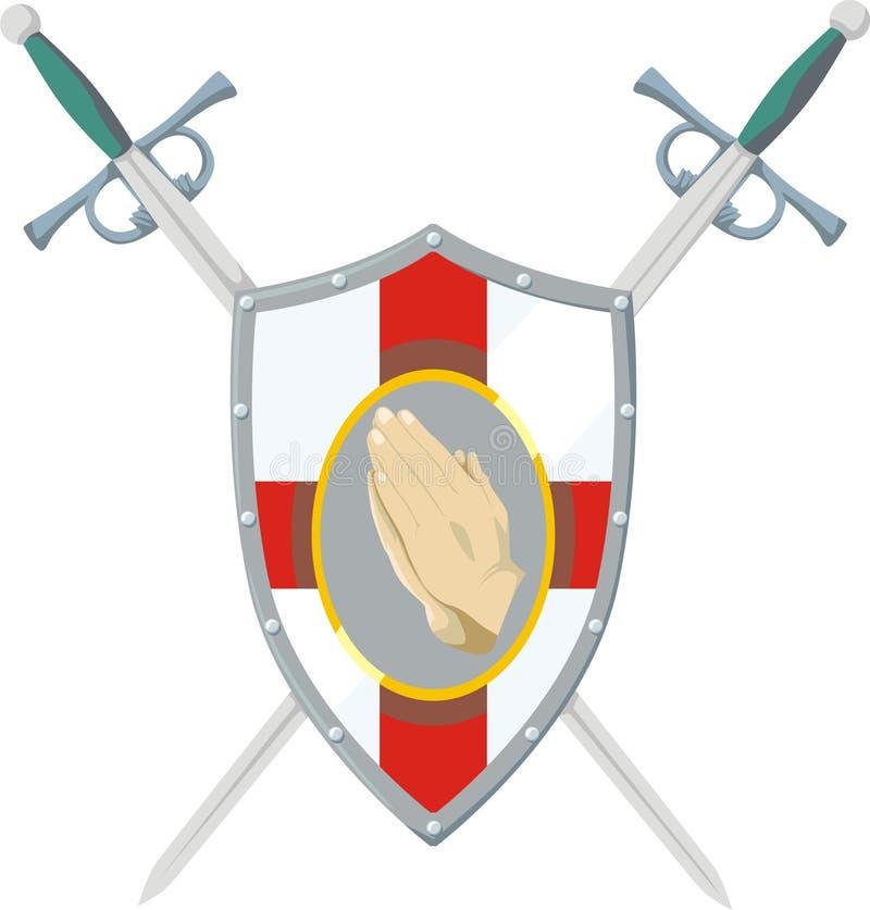 modlitewny wojownik ilustracji