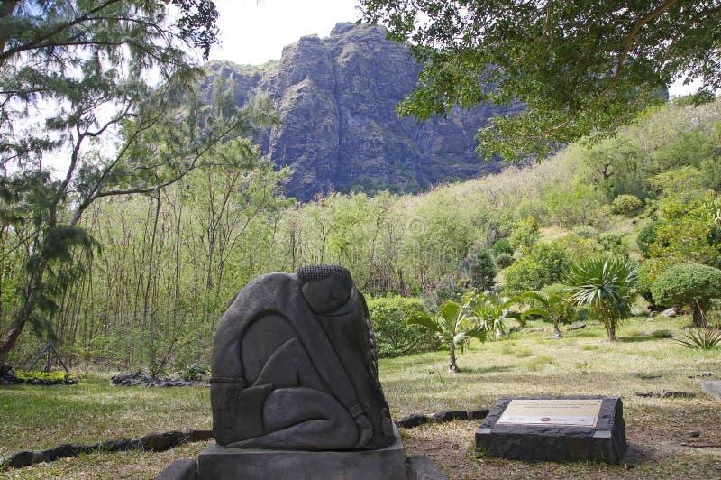 Modlitwa łamać łańcuch statuę Mauritius zdjęcia stock