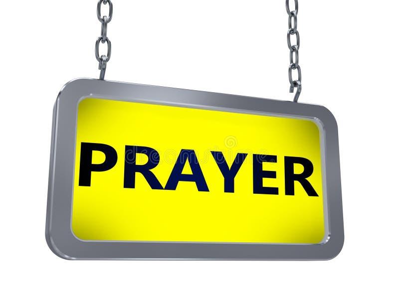 Modlitwa na billboardzie ilustracja wektor