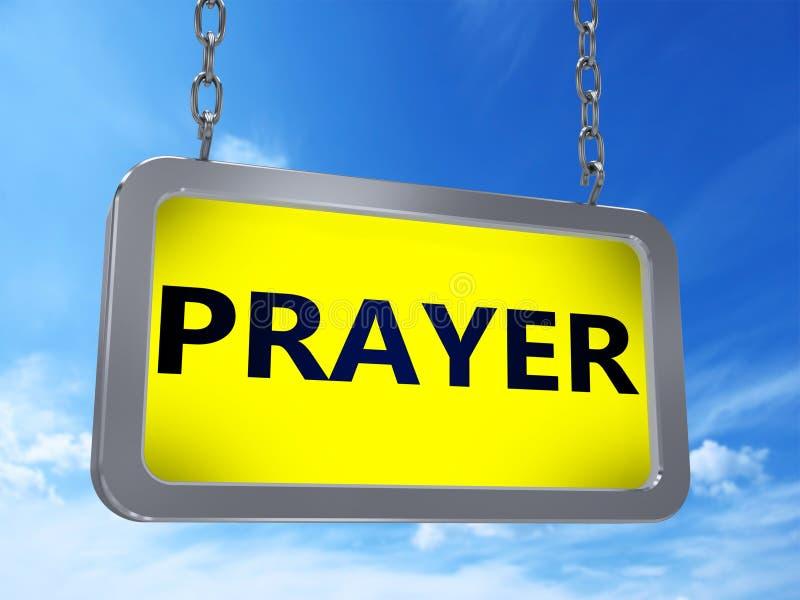 Modlitwa na billboardzie ilustracji