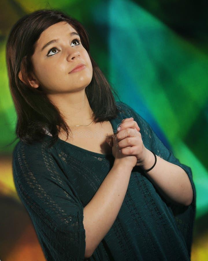 modlitwa nastoletnia obraz stock