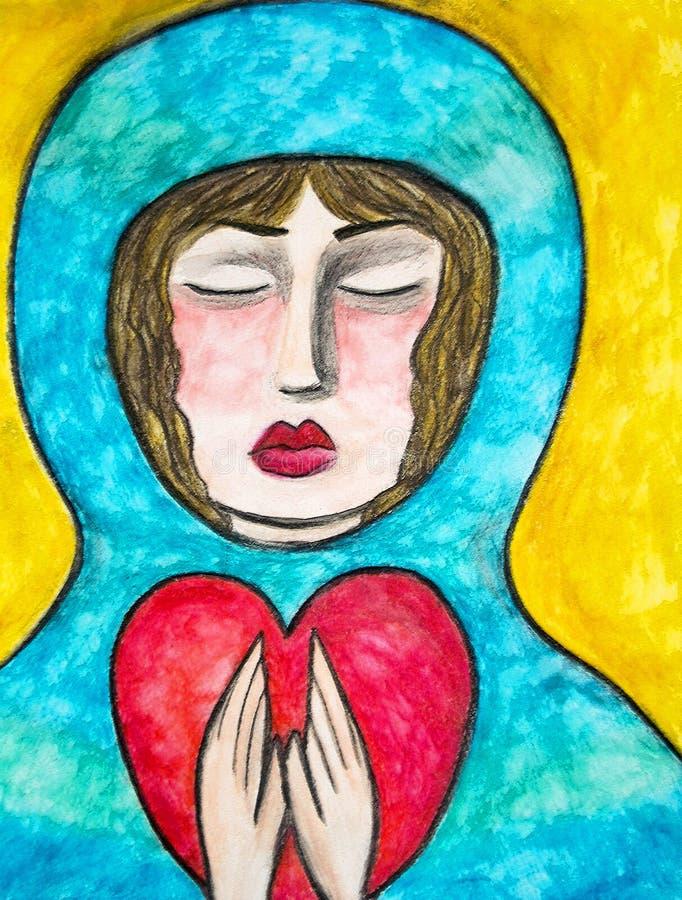 modlitwa serca royalty ilustracja